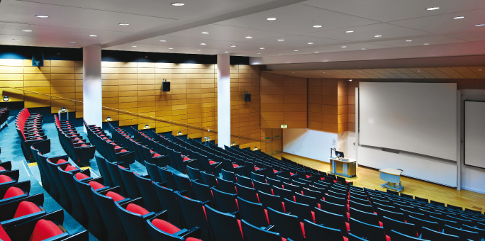 Lecture Theatre 1 stage view