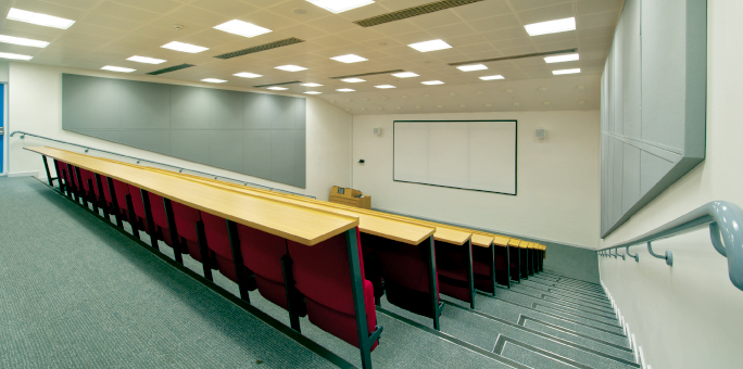 Wolfson Lecture Theatre - Looking towards the stage