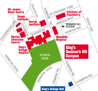 Denmark Hill Campus Map